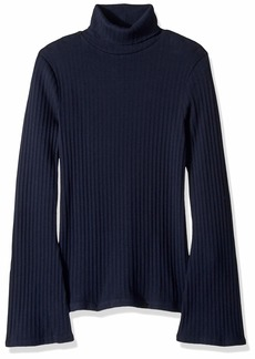 J.Crew Mercantile Women's Ribbed Flare Sleeve Turtleneck Sweater  S