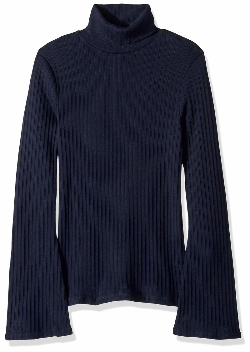J.Crew Mercantile Women's Ribbed Flare Sleeve Turtleneck Sweater  XS