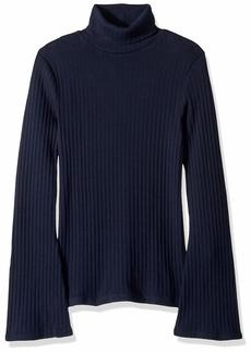 J.Crew Mercantile Women's Ribbed Flare Sleeve Turtleneck Sweater  XXS
