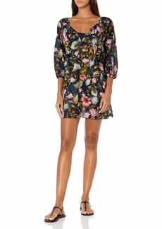 J.Crew Mercantile Women's Scoopneck Beach Tunic in Floral  XS