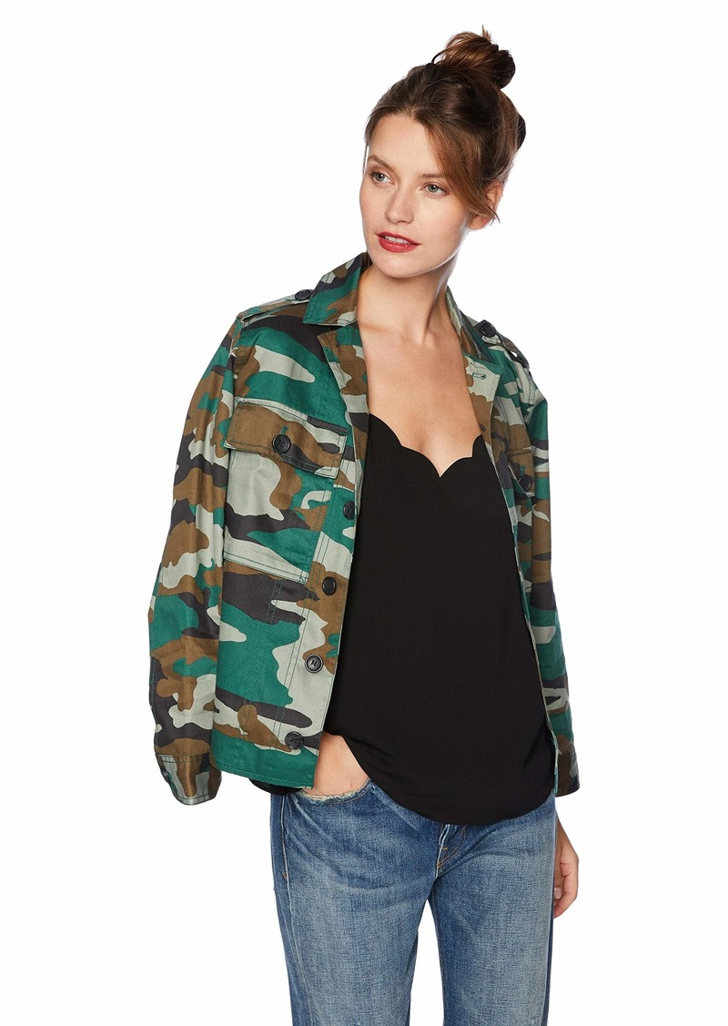 J.Crew Mercantile Women's Shirt Jacket Jenna camo Dark M