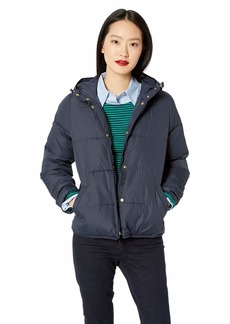 J.Crew Mercantile Women's Short Puffer Coat Navy XL