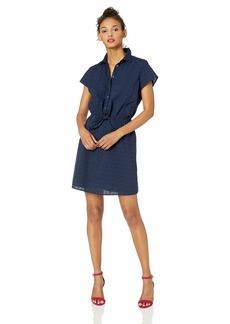 J.Crew Mercantile Women's Short-Sleeve Eyelet Collared Tie Front Dress  XL