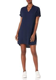 J.Crew Mercantile Women's Short Sleeve Mandarin Collar Dress