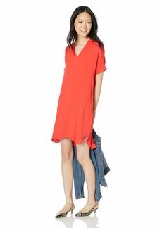 J.Crew Mercantile Women's Short Sleeve Mandarin Collar Dress