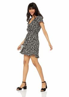 J.Crew Mercantile Women's Short-Sleeve Printed Ruffle Wrap Dress  2X