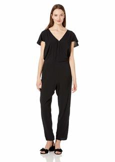 J.Crew Mercantile Women's Short-Sleeve Wrap Jumpsuit  S