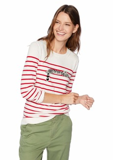 J.Crew Mercantile Women's Striped Crewneck Sweater White/red XXS