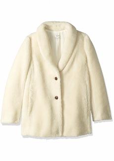 J.Crew Mercantile Women's Teddy Fleece Shawl Collar Coat  M
