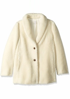 J.Crew Mercantile Women's Teddy Fleece Shawl Collar Coat  XXL