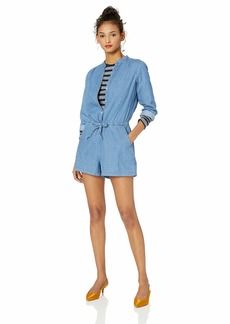 J.Crew Mercantile Women's Three-Quarter Sleeve Denim Romper