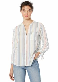 J.Crew Mercantile Women's Tie-Sleeve Collarless Button Down Shirt