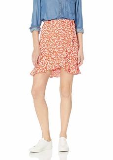 J.Crew Mercantile Women's Tie Waist Floral Ruffle Wrap Mini Skirt  L