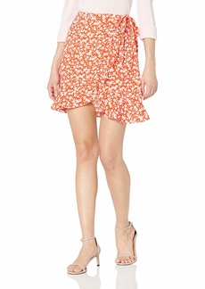 J.Crew Mercantile Women's Tie Waist Floral Ruffle Wrap Mini Skirt  M