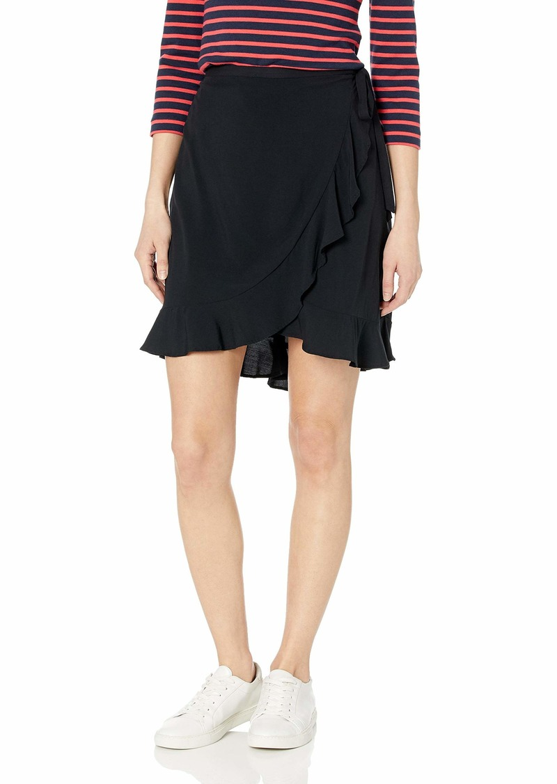 J.Crew Mercantile Women's Tie Waist Ruffle Wrap Mini Skirt  XXS