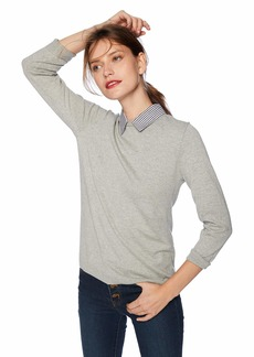 J.Crew Mercantile Women's Woven Collar Sweater  XXL