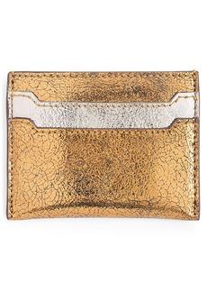 J.Crew Metallic Leather Slip Card Case
