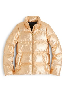 J.Crew Metallic Puffer Jacket with PrimaLoft®