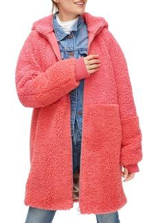 J.Crew Mixed Teddy Fleece Coat