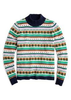 J.Crew Mock Neck Fair Isle Sweater