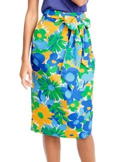 J.Crew Morning Floral Tie Waist Skirt