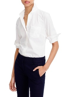 J.Crew New Perfect Cotton Poplin Shirt (Regular & Petite)