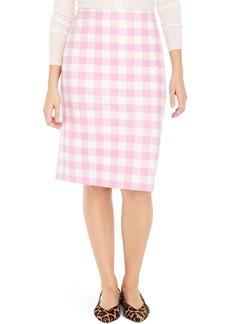 J.Crew No. 2 Pencil Cotton Gingham Skirt