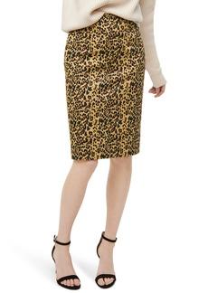 J.Crew No. 2 Pencil Leopard Stretch Skirt