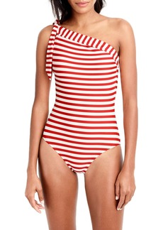 J.Crew One-Shoulder Stripe One-Piece Swimsuit