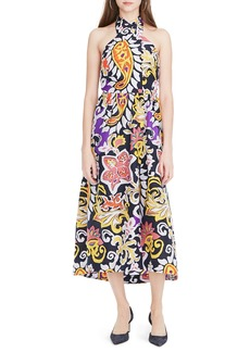 J.Crew Paisley Silk Maxi Sarong Dress