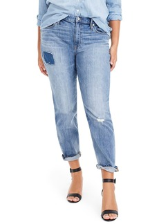 J.Crew Patched & Distressed Slim Boyfriend Jeans