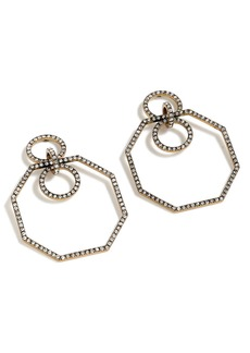 J.Crew Pavé Octagon Earrings
