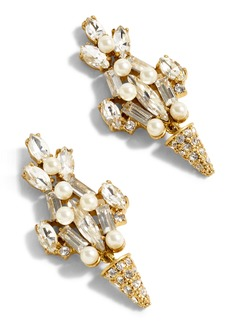 J.Crew Pearl & Crystal Statement Stud Earrings