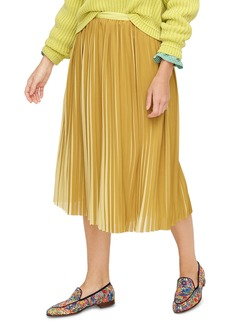 J.Crew Peekaboo Stripe Pleated Midi Skirt