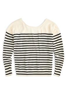 J.Crew Penny Stripe Merino Wool Sweater