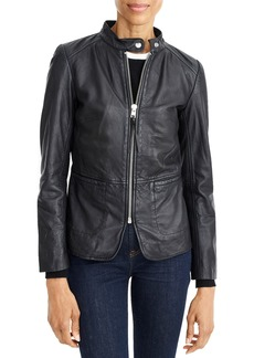 J.Crew Peplum Leather Jacket