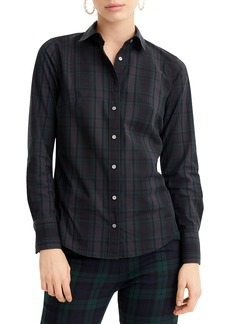 J.Crew Perfect Black Watch Tartan Slim Stretch Shirt (Regular & Petite)