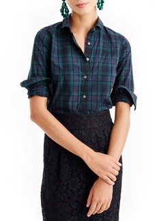 J.Crew Perfect Club Collar Black Watch Plaid Shirt (Regular & Petite)