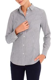 J.Crew Perfect Stripe Curvy Slim Stretch Shirt (Regular & Plus Size)