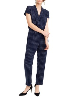 J.Crew Pin Dot Jumpsuit
