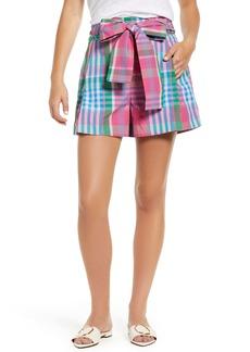 J.Crew Plaid Tie Waist Shorts