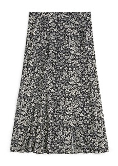 J.Crew Playa Floral Fluted Midi Skirt