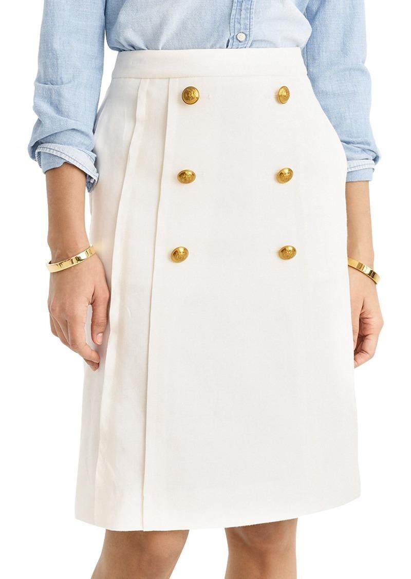 f5e26fc852fd12 J.Crew J.Crew Pleat Front Stretch Linen Blend Sailor Skirt | Skirts