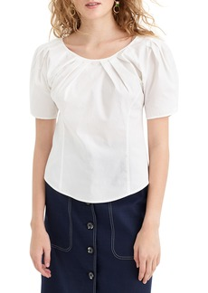 J.Crew Pleat Scoop Neck Top