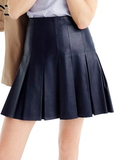 J.Crew Collection Drop Pleat Leather Skirt