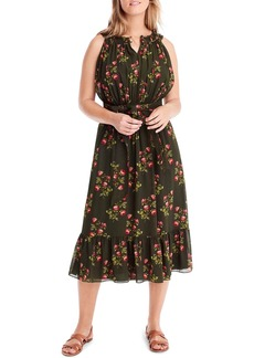 J.Crew Point Sur High Neck Ruffle Midi Dress