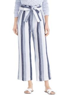 J.Crew Point Sur Paperbag Stripe Linen Pants