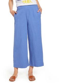 c2432874f3 J.Crew Point Sur Seaside Linen Blend Crop Wide Leg Pants