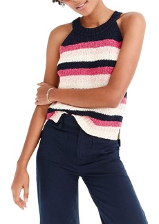J.Crew Point Sur Stripe Tank Sweater