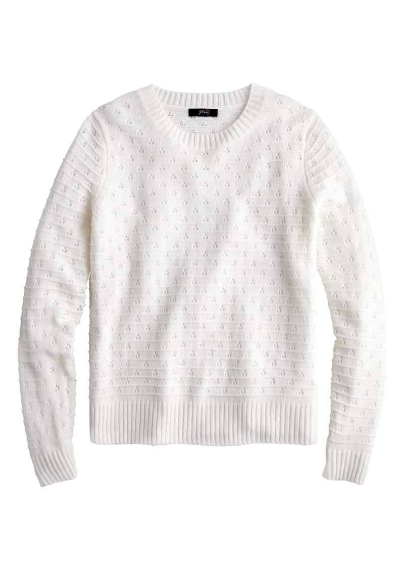 J.Crew Pointelle Crewneck Sweater